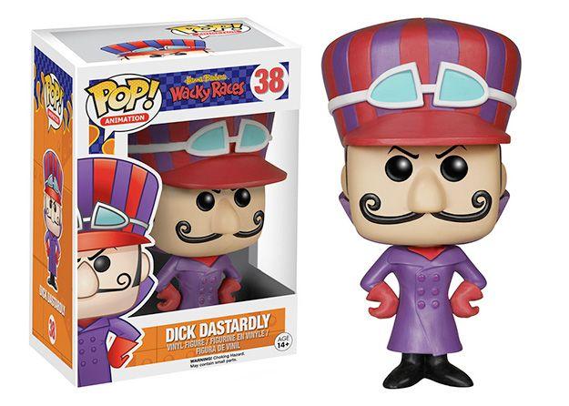 Bonecos Pop! Hanna Barbera Série 2: Dick Vigarista, Muttley, Esquilo Sem Grilo, Moleza Toupeira e Medinho