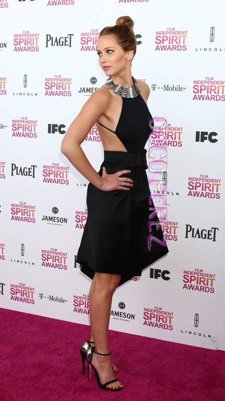 Check out Jennifer Lawrence's red carpet look at the 2013 Independent Spirit Awards HERE!