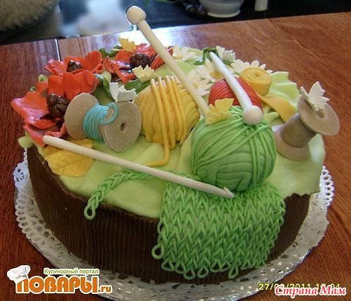 Bilderesultat for торт вязание