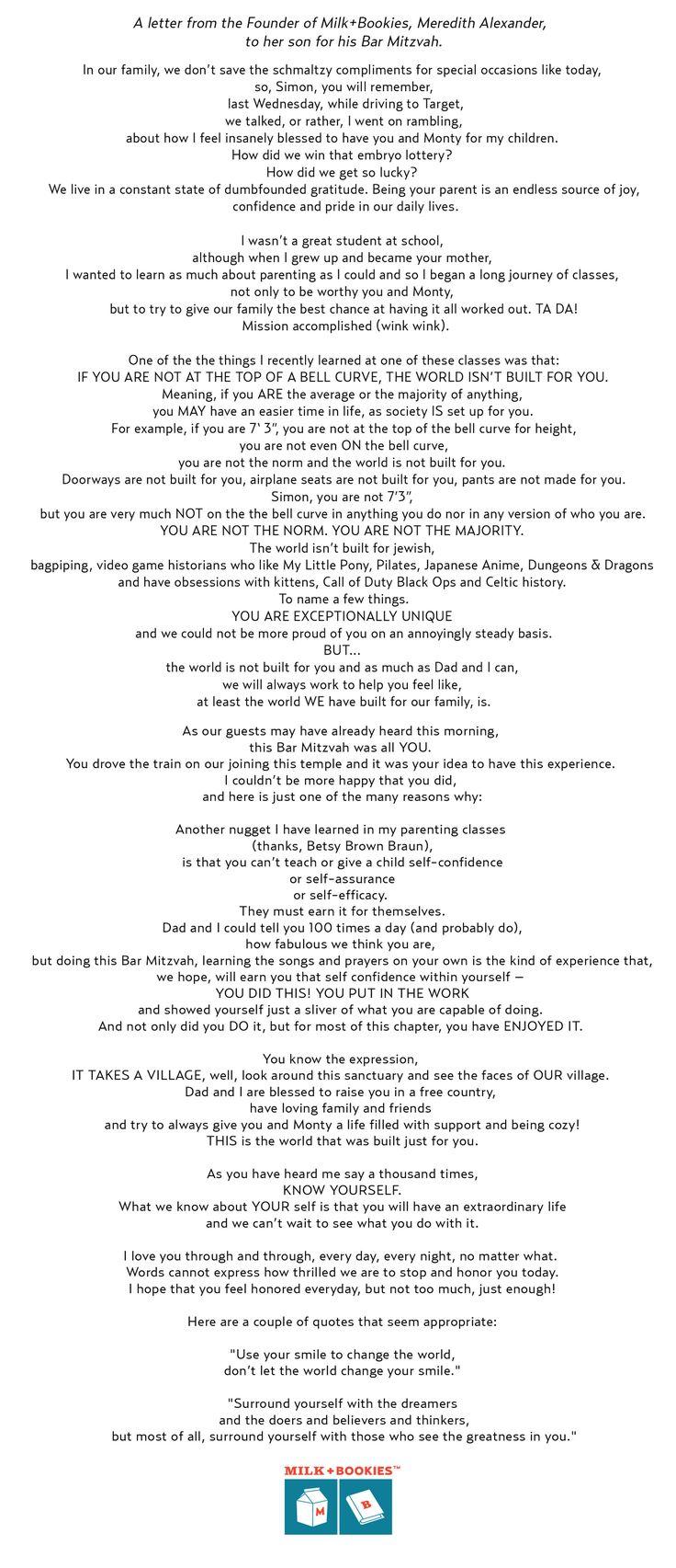 13 best Bar / Bat Mitzvah Parent Speech Inspiration images on ...