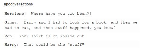 harry and ginny oh you guys in trouble for going shopping without them