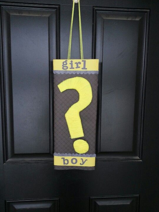 Gender Reveal Party Door Sign