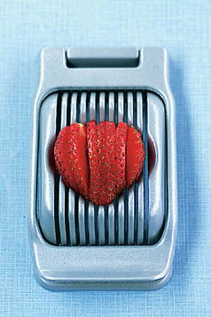 Slice strawberries or mozzarella with an egg slicer. | 27 Clever New Ways To Use Your Kitchen Appliances
