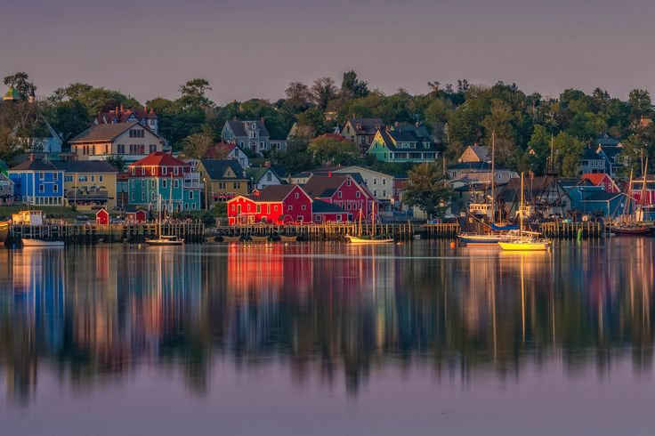 Sunset in Lunenberg, Nova Scotia