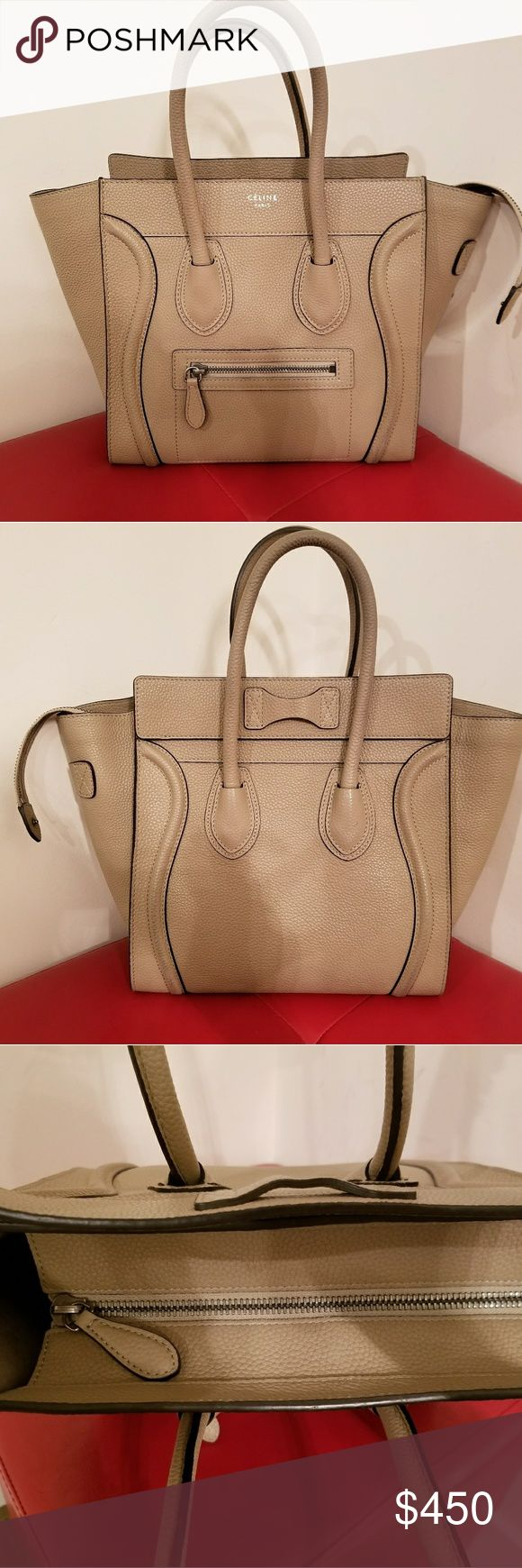 Celine Micro Dune Luggage Tote It comes with dust cover bag. Clean inside. Please make your offer and this is ready to ship have been worn with signs of wear. Celine Bags Totes
