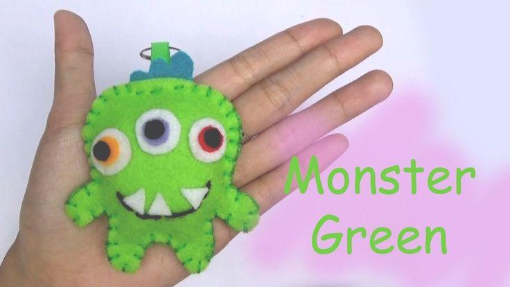 Monster Friends Green Craft For Kids - Easy Craft Handmade - Nursery Rhy...