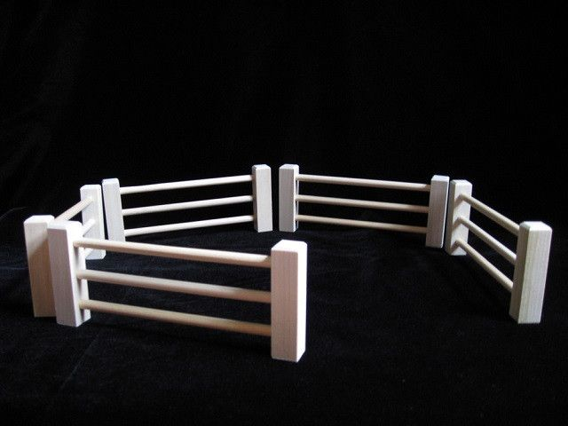 3 25 Quot Tall Wood Toy Split Rail Fence Wood Toys Toy Barn