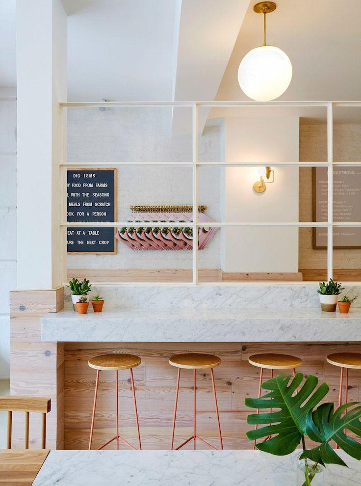 marble pink dig inn restaurant boston - Marble Cafe Decoration