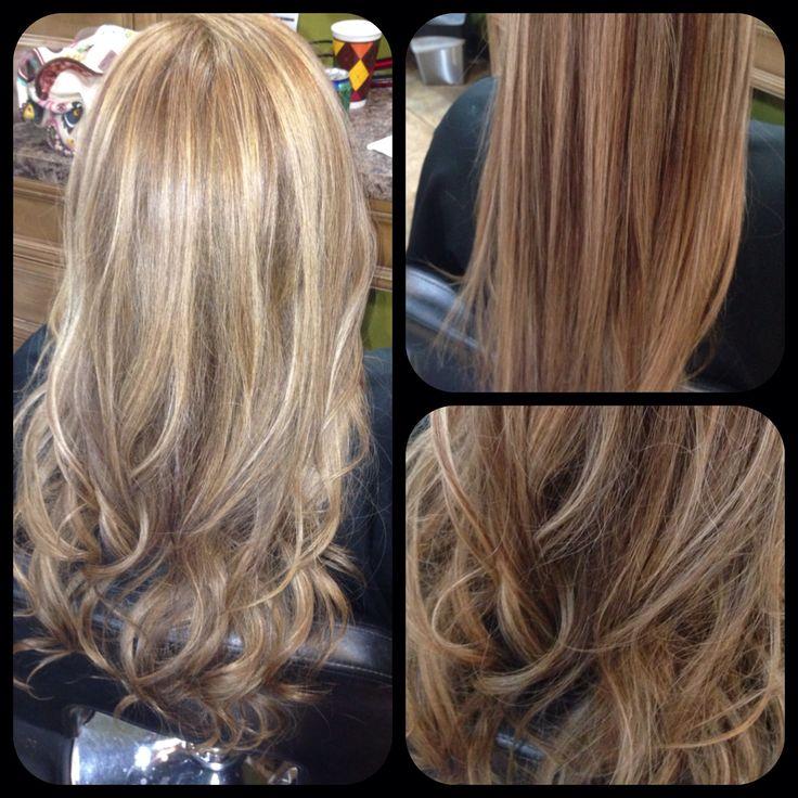 Caramel base with blonde chunky highlights | Hair ...