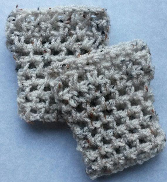Oatmeal child crochet boot cuff childrens boot by CrochetingAK