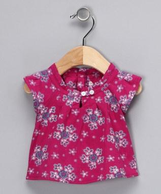 Magenta Floral Dress - Infant