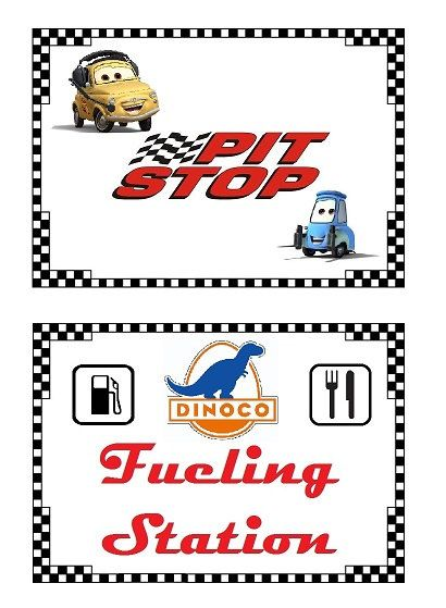 Disney Cars Birthday Theme Dessert and Food by LittleBugShoppe