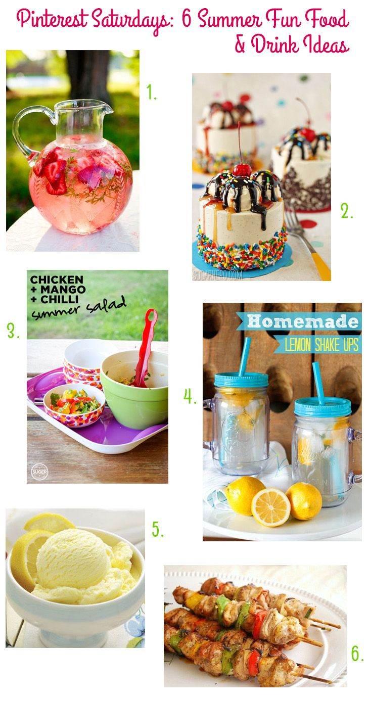 Pinterest Saturdays 6 Summer Fun Food Drink Ideas