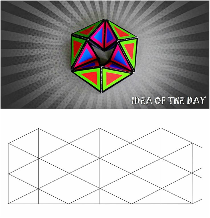 Template For Flexagon Kaleidocycle This Template Flexagon