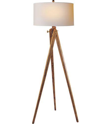 Visual Comfort E.F. Chapman Tripod 1 Light Decorative Floor Lamp in French Wax on Wood SL1700FW-NP #lightingnewyork #lny #lighting