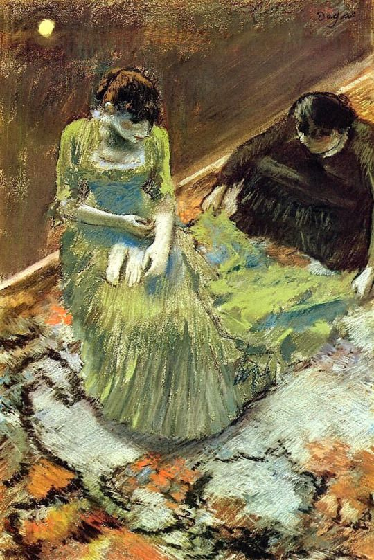Before the Curtain Call - Edgar Degas