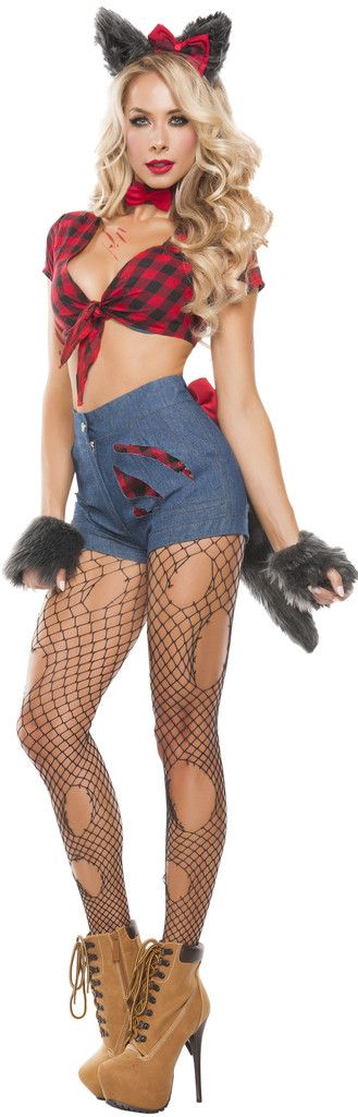 hungry werewolf costume little red riding hood costume whore - Daisy Dukes Halloween Costume