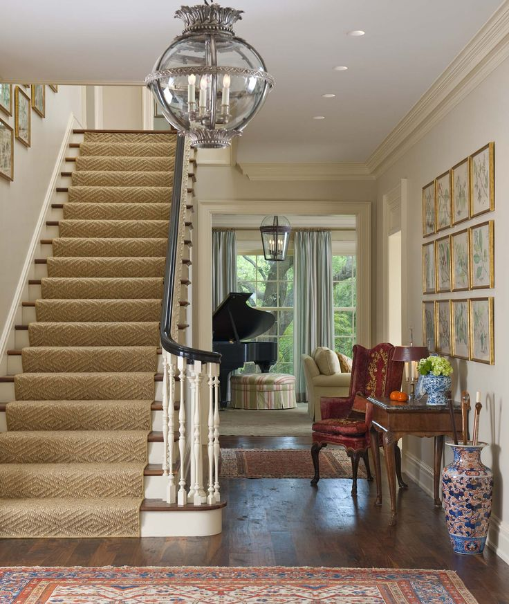 Beautiful Front Hall And Staircase: Foyers, Stairs And Entry Hall On Pinterest