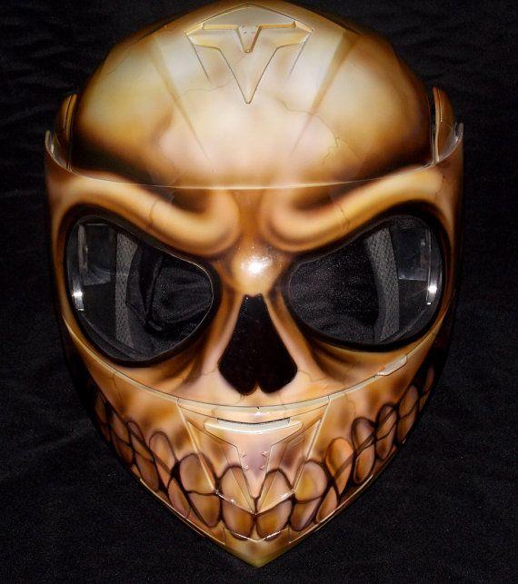 Skull Airbrushed Helmet