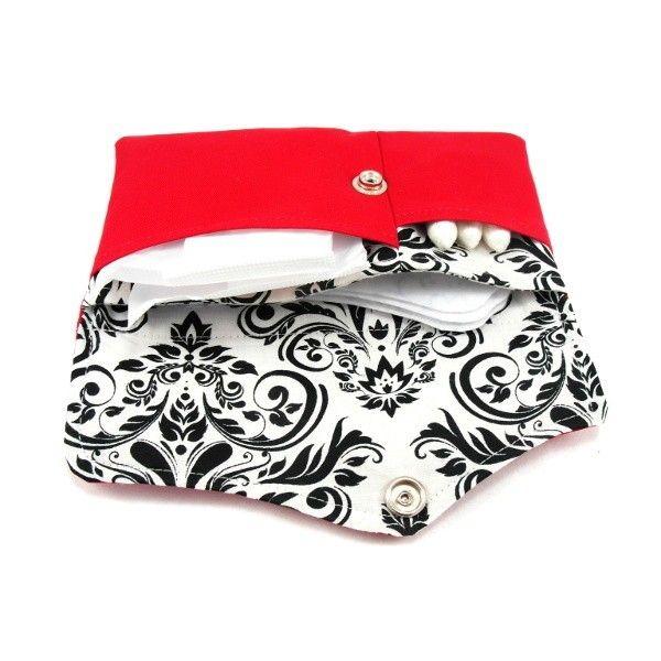 Jak uszyć opakowanie na podpaski, wkładki higieniczne i tampony, kobiece etui 3w1 - wykrój krawiecki i tutorial