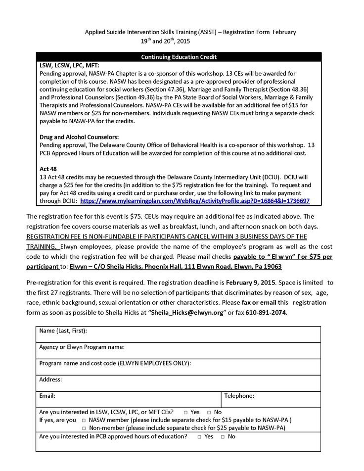 Delaware County Crisis Connections Team brochure page 2 DelCo - check request form