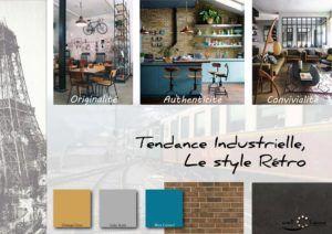 Moodboard - Déco, planche d'ambiance, tendance industrielle, style rétro, réalisation well-c-home