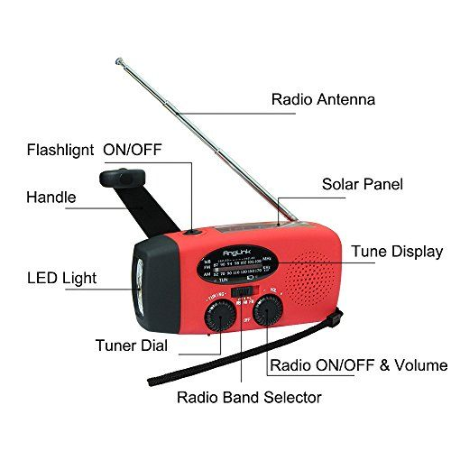 Presupuesto Color: rojo Dimensiones: 128 x 60 x 45 (mm) Peso: aproximadamente 200g Rango de frecuencia: AM 520 ~ 1710 KHz FM 87 ~ 108 MHz NOAA: 162.450 ~ 162.550 MHz Voltaje de funcionamiento: 2.7V ~ 4.2V Fuente de alimentación: 2/3 AAA 300mAh / 3.6V Ni-MH. El paquete incluye 1 x Solar de... http://comprarlinternaled.com/carga/solar-radio-portatil-anglink-radio-dinamo-con-manivela-de-autoalimentado-amfmwb-weather-radio-linterna-led-telefono-cargador-para-aire-libre-sen