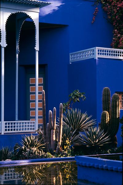 Jardin Majorelle in Marrakech.. Home of Yves Saint Laurent and Pierre Bergé