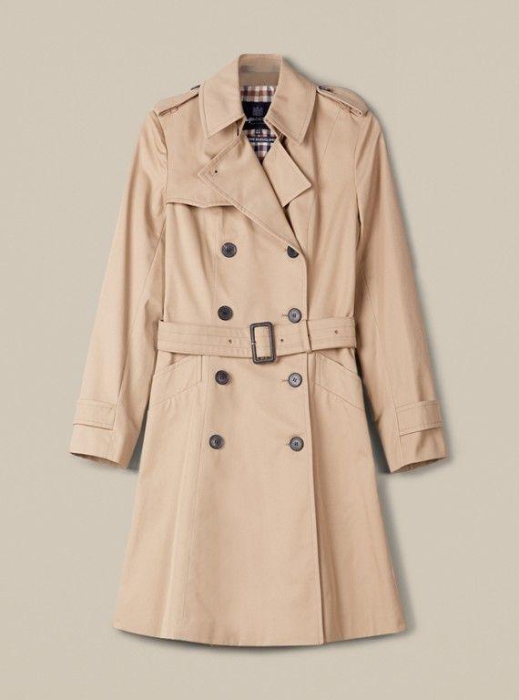 Aquascutum Lana Double Breasted Trench Coat, £650