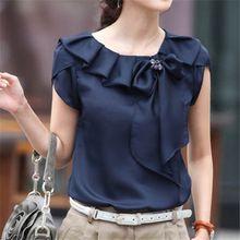 Plus Size M-XXXL elegante Bow Vintage Casual Blusa Mulheres Blusas Camisas…