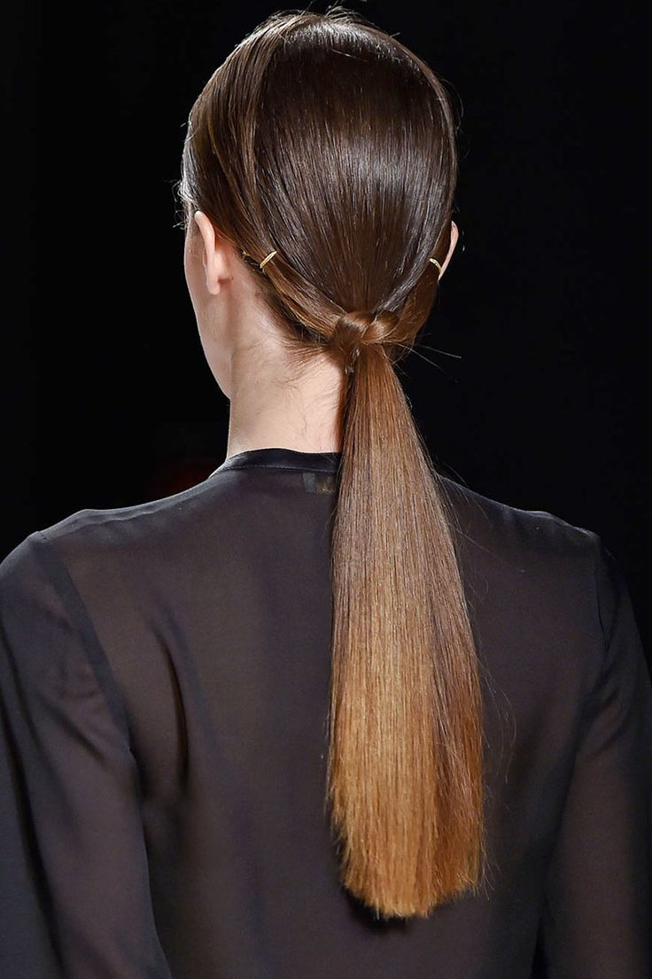 Hair trend - Fall 2015 - low ponytail - Erin Fetherston   - HarpersBAZAAR.com