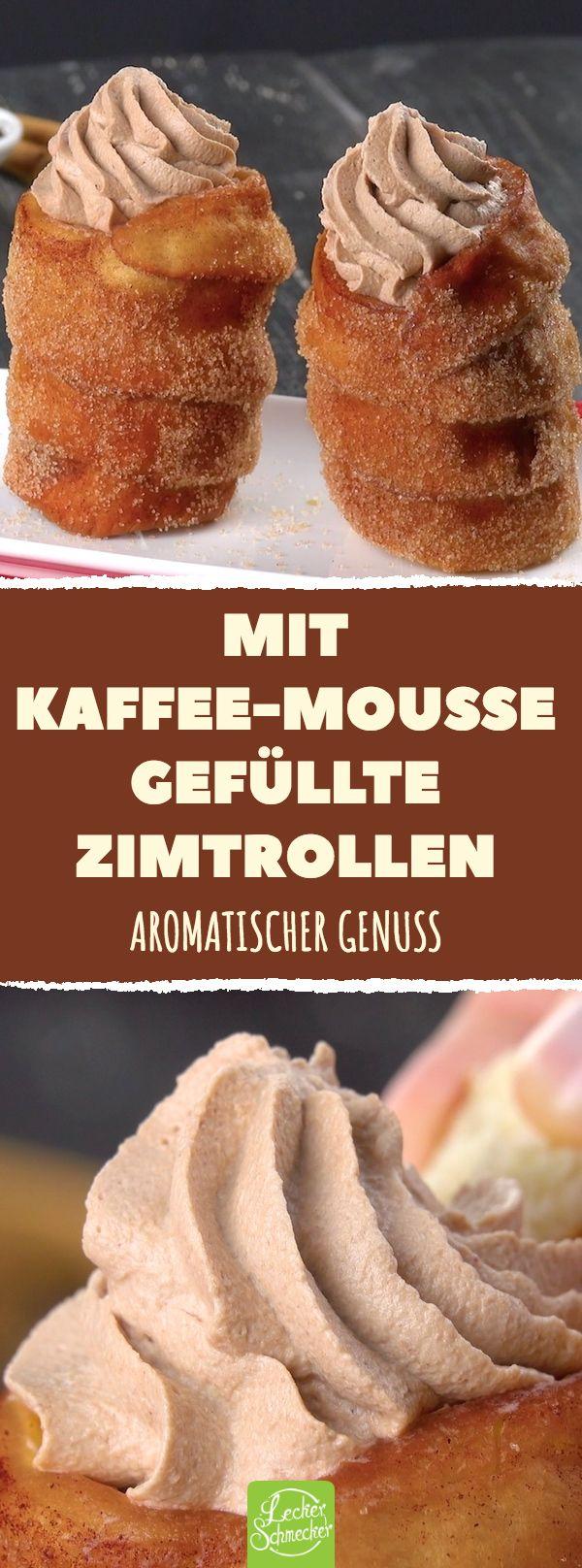Mit Kaffee-Mousse gefüllte Zimtrollen Aromatische…