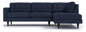 The Logan 2-Piece Sectional Sofa, Navy - midcentury - Sectional Sofas - Apt2B