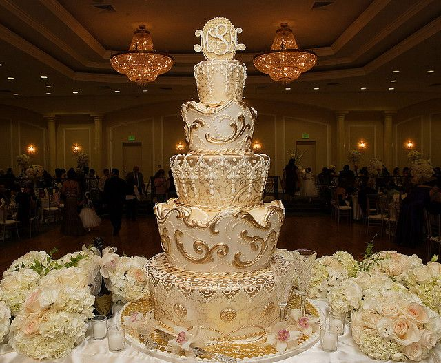 The Gold Moroccan Wedding Cake
