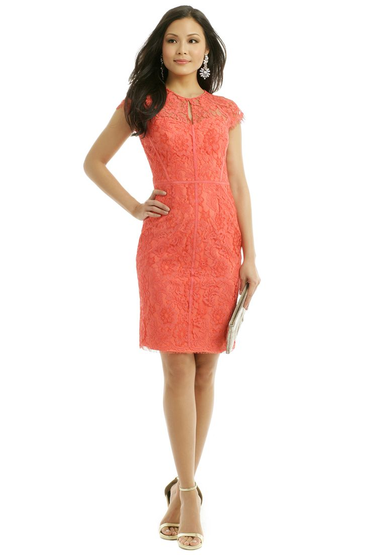 Rent Grapefruit Spritz Sheath by ML Monique Lhuillier for $75 only at Rent the Runway.