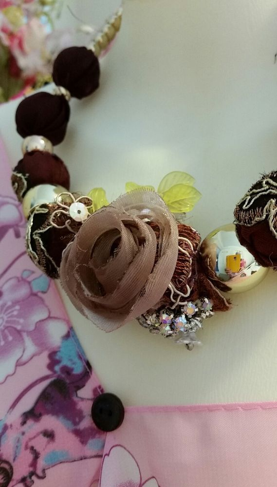 Shabby Chic Victorian  Necklace Earring set Bauble bead  Diamontie rose Necklace in Jewellery & Watches, Handcrafted Jewellery, Necklaces & Pendants | eBay!