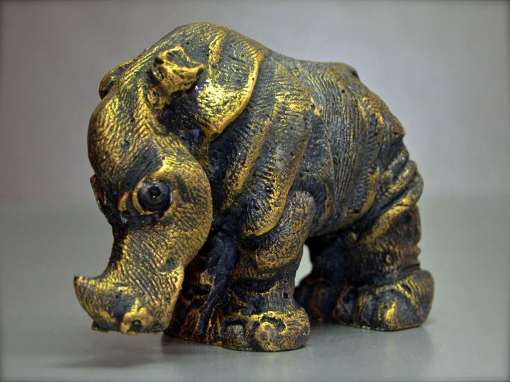 Statua gesso raffigurante Rinoceronte Rhinoceros