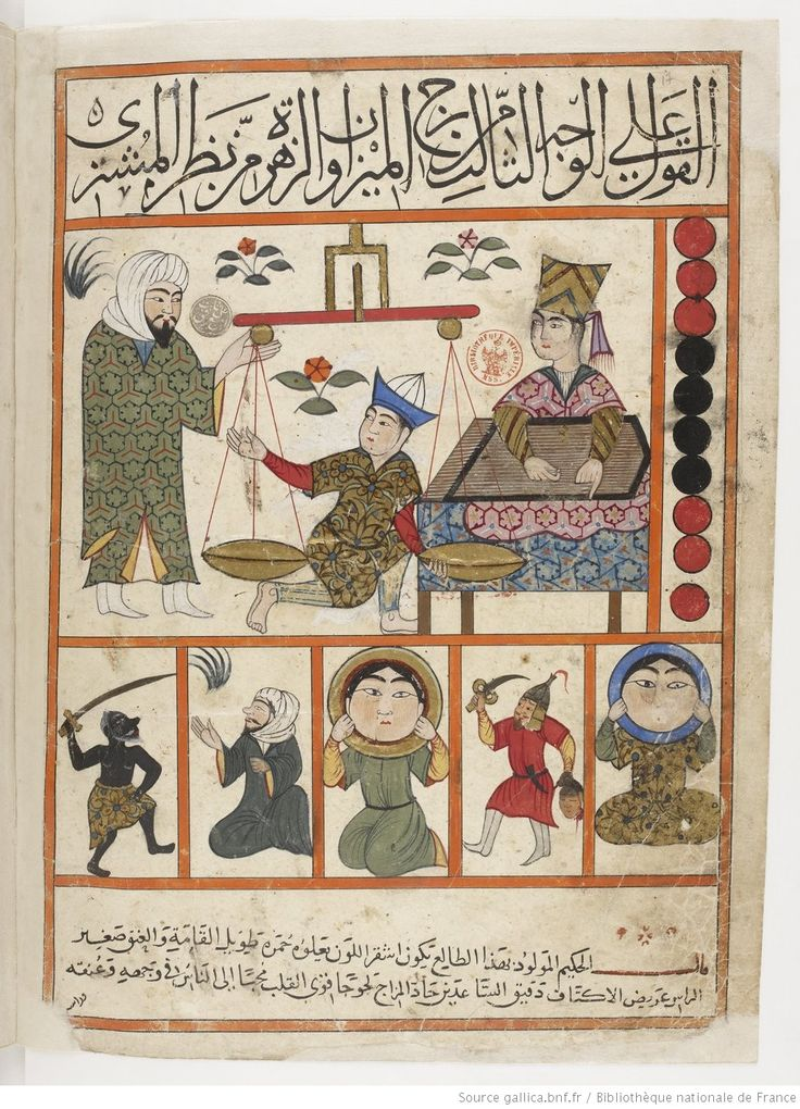 vue 50 - folio 21v, Libra - The Book of Nativities (Kitab al-Mawalid), attributed to Persian astronomer Abu Maʿschar al-Balkḥī and was later drawn by the painter Qanbar 'Alī Shīrāzī published in 1300 AD.