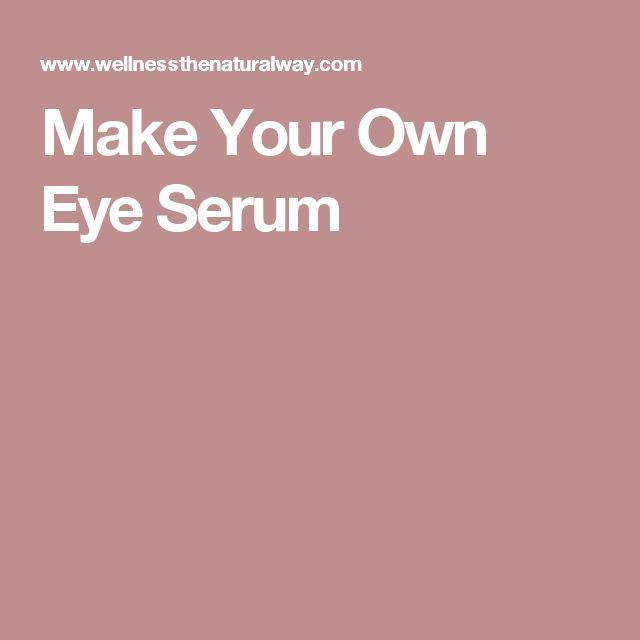 Make Your Own Eye Serum