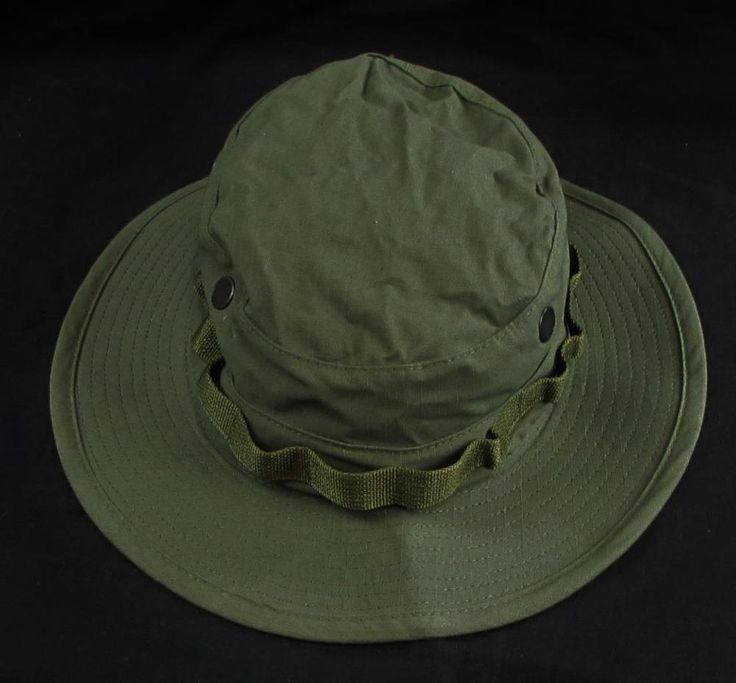 Military Type II Bush Hat Sun Hot Weather Made in USA sz Men 7 1/4 #MilSpecH43577 #BoonieBush