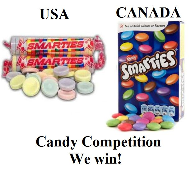 Smarties vs. Smarties // their smarties are our rockets. I love rockets.