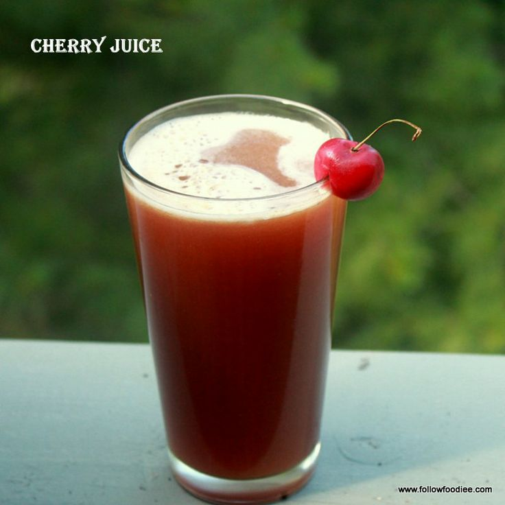 Enjoy the breakfast with Fresh Home made Cherry Juice , Amazing Health Benefits  #Cherry #Juice