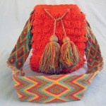 Mochila Wayuu-Plucked- Orange #handbags #bags #Mochila #Wayuu #fashion  #crochet #style #Colombia #LaGuajira