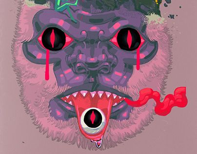 """Check out new work on my @Behance portfolio: """"Bad Trip"""" http://be.net/gallery/44201877/Bad-Trip"""
