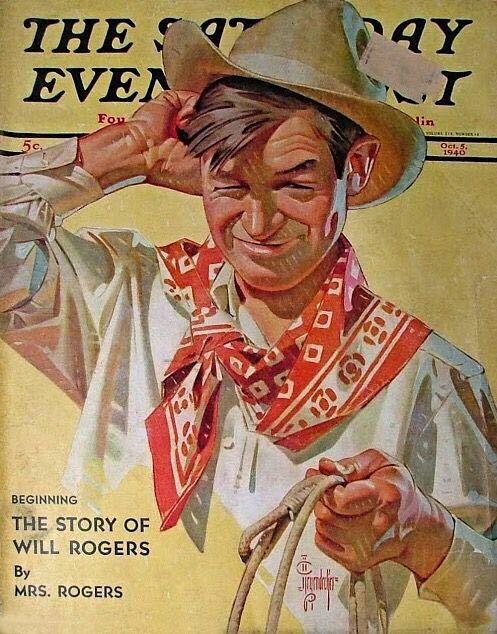 Joseph Christian Leyendecker (1874-1951) - Will Rogers (The Saturday Evening Post), 1940