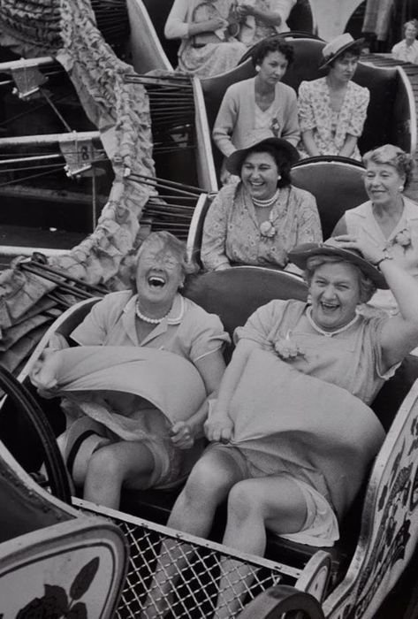 Make sure to become ladies in the front row, not the grumpy ones in the third//
