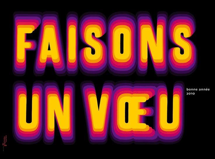 AFFICHE DE VŒUX / Affiche de vœux de la Mairie de Fontenay-sous-Bois.  Graphisme Muriel Paris