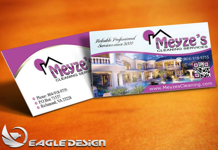 30 best business cards images on pinterest business cards carte business card design for meyzes cleaning services reheart Images