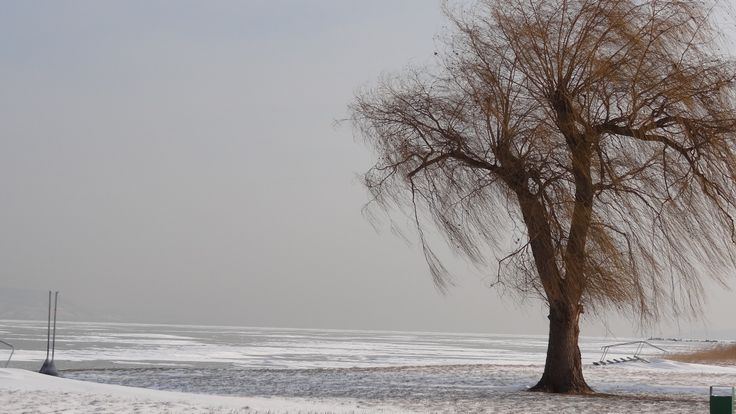 icy Lake Balaton