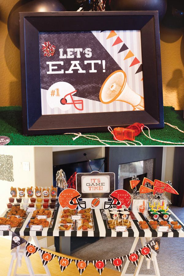 It's Game Time #Football #Party {PART 1} + #Free #Printables! from HWTM!